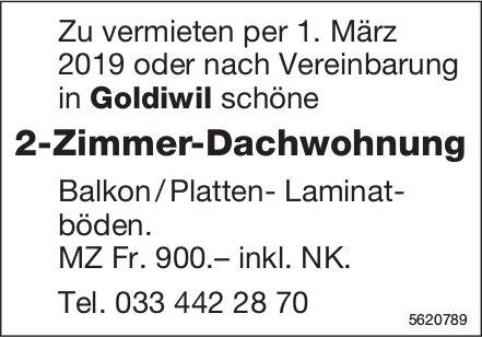 2-Zimmer-Dachwohnung in Goldiwil zu vermieten