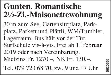 Romantische 2½-Zi.-Maisonettewohnung in Gunten zu vermieten