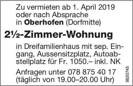 2½-Zimmer-Wohnung in Oberhofen (Dorfmitte) zu vermieten