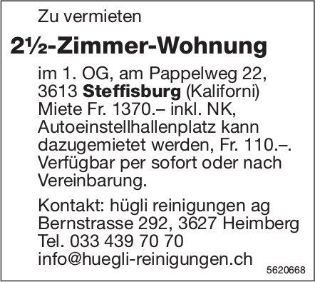 2½-Zimmer-Wohnung in Steffisburg zu vermieten