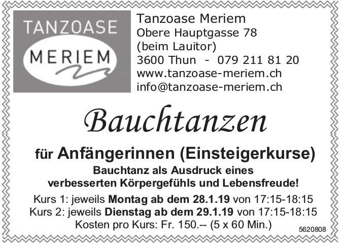 Tanzoase Meriem, Thun - Bauchtanzen für Anfängerinnen (Einsteigerkurse)