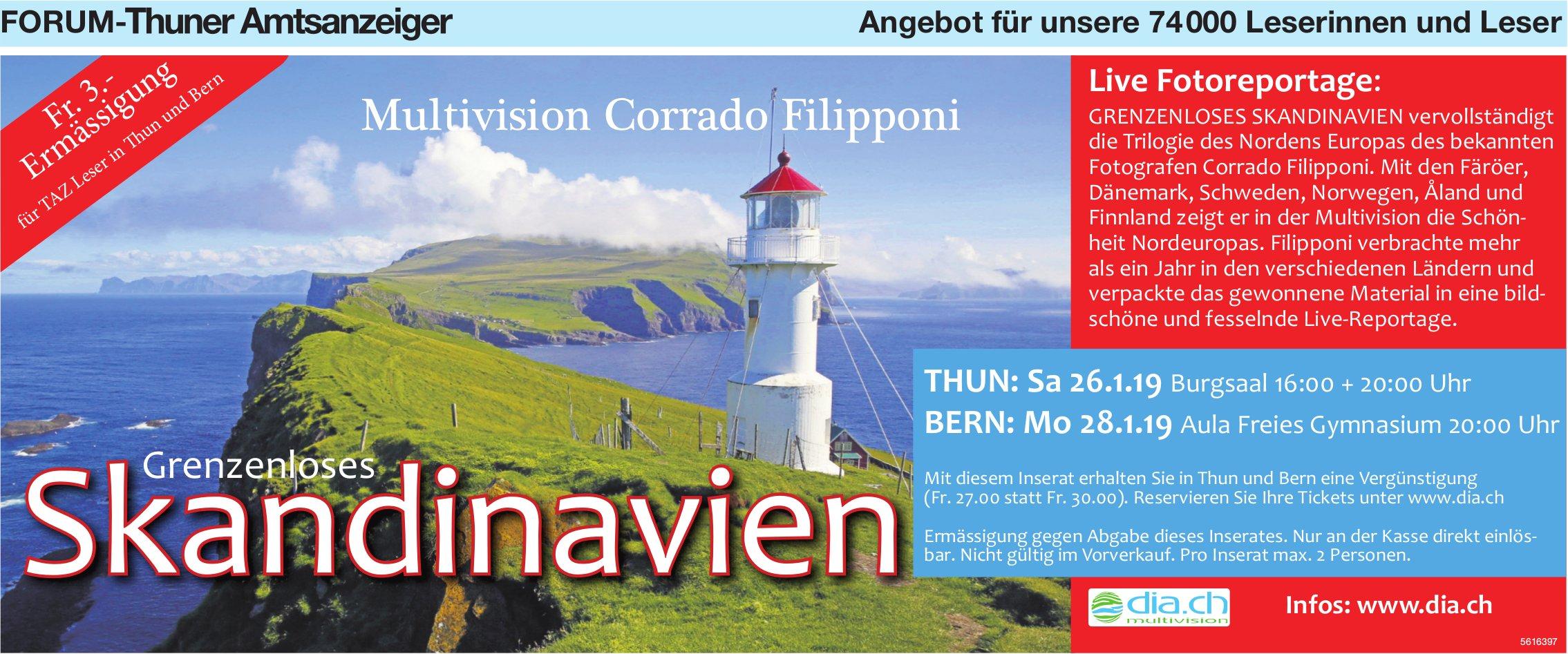Forum-Thuner Amtsanzeiger - Grenzenloses Skandinavien, Live Fotoreportage, 26. + 28. Januar