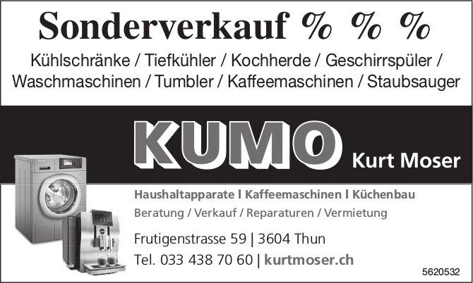 KUMO Kurt Moser, Thun - Sonderverkauf % % %