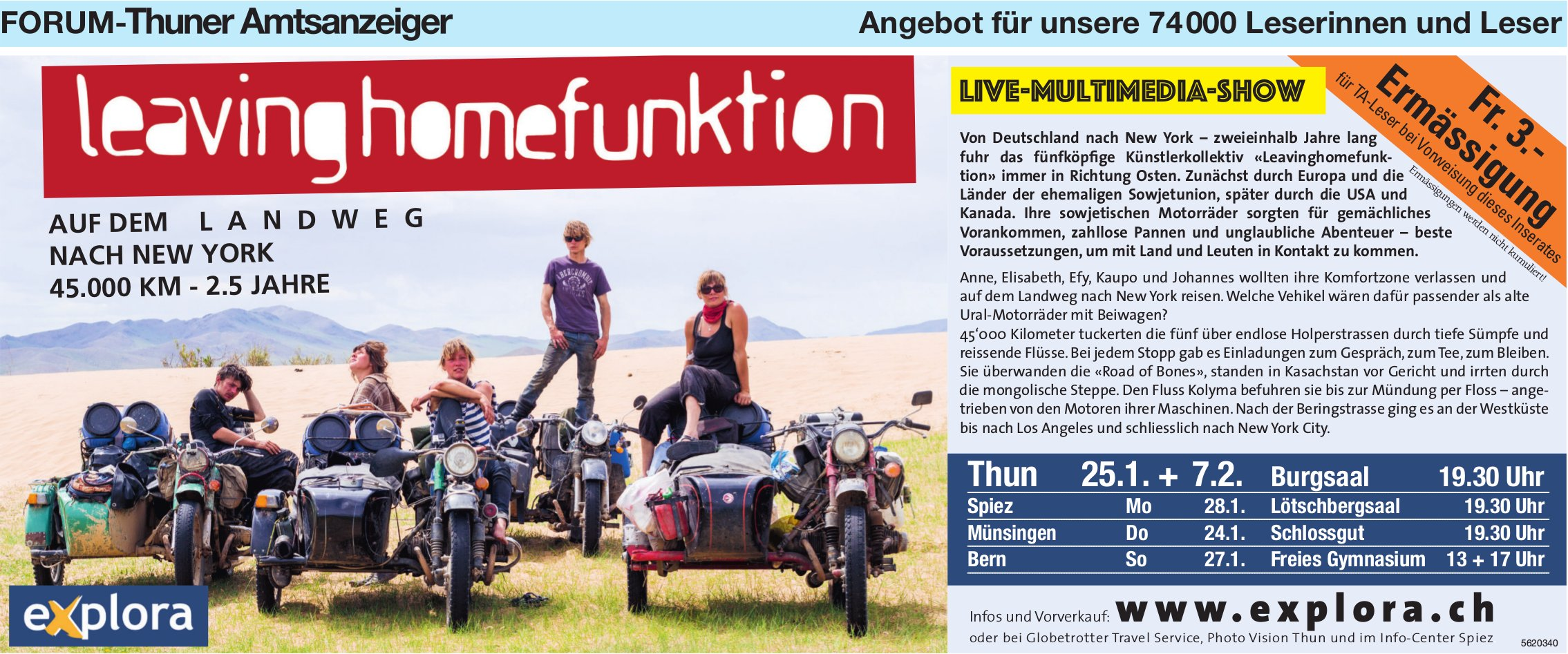 Forum-Thuner Amtsanzeiger - LeavingHomeFunktion, Live-Multimedia-Show