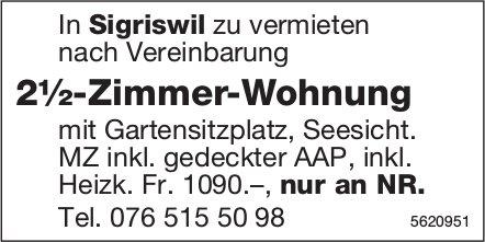 2½-Zimmer-Wohnung in Sigriswil zu vermieten