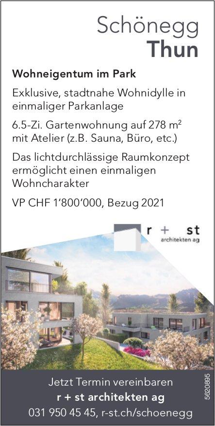 6.5-Zi. Gartenwohnung auf 278 m2 in Schönegg Thun zu verkaufen