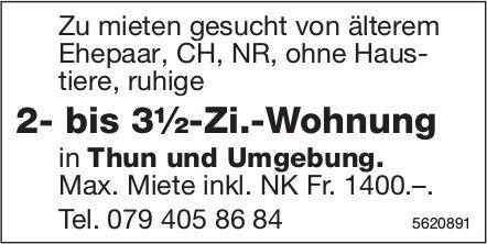 2- bis 3½-Zi.-Wohnung in Thun und Umgebung zu mieten gesucht