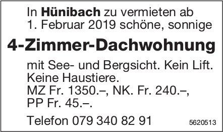 4-Zimmer-Dachwohnung in Hünibach zu vermieten