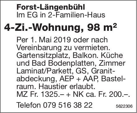 4-Zi.-Wohnung, 98 m2 in Forst-Längenbühl zu vermieten