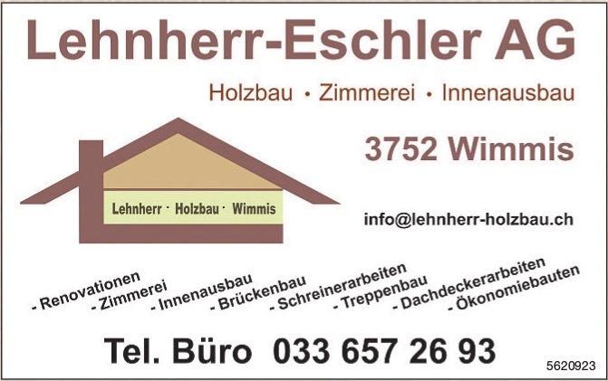 Lehnherr-Eschler AG - Holzbau, Zimmerei, Innenausbau