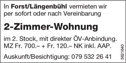 2-Zimmer-Wohnung in Forst/Längenbühl zu vermieten