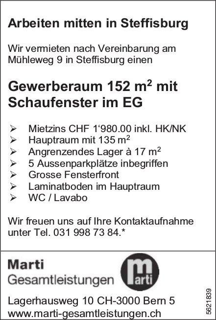 Gewerberaum 152 m2 mit Schaufenster im EG in Steffisburg zu vermieten