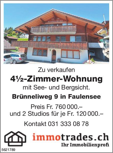 4½-Zimmer-Wohnung mit See- und Bergsicht in Faulensee zu verkaufen