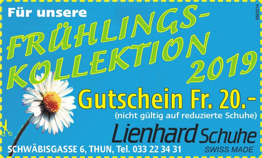 FRÜHLINGSKOLLEKTION 2019, Lienhard Schuhe, Thun - Gutschein Fr. 20.-