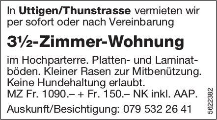 3½-Zimmer-Wohnung in Uttigen / Thunstrasse zu vermieten