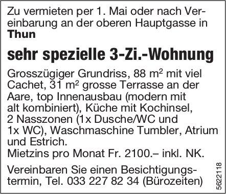 Sehr spezielle 3-Zi.-Wohnung in Thun zu vermieten