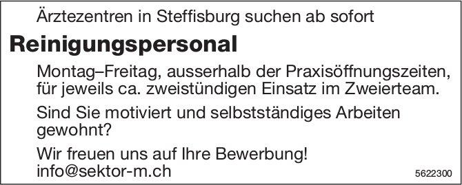 Reinigungspersonal, Ärztezentren in Steffisburg, gesucht