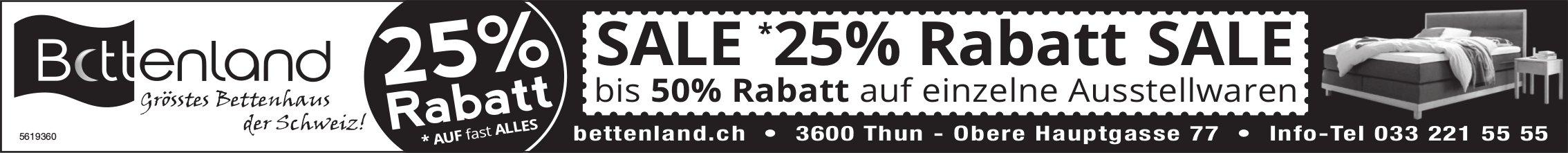 Bettenland, Thun - SALE *25% Rabatt