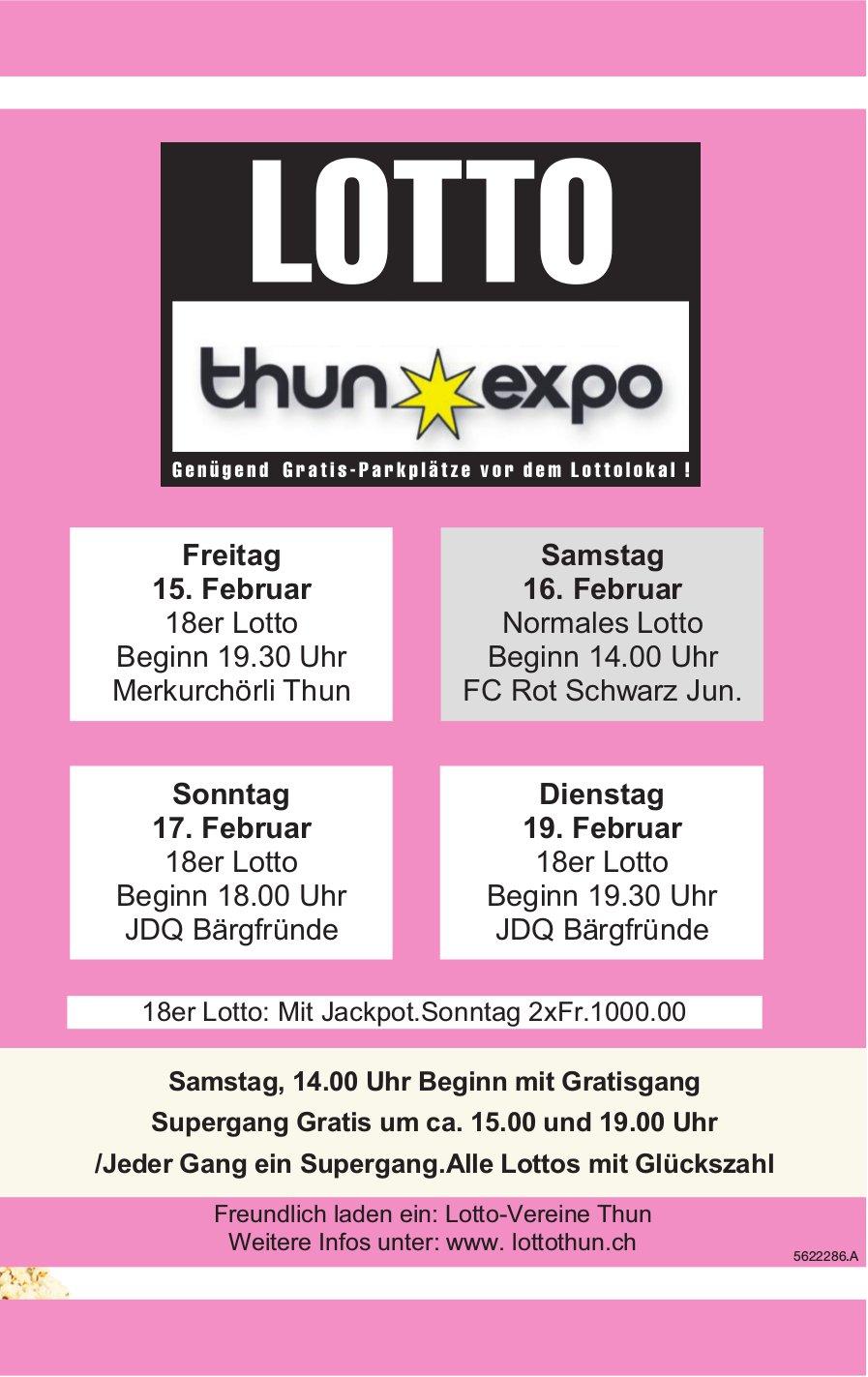 LOTTO Thun Expo - 15./16./17./19. Februar