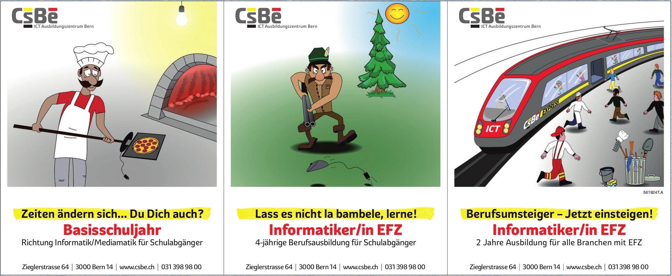 CsBe ICT Ausbildungszentrum - Basisschuljahr, Informatiker/in EFZ