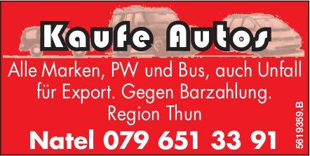 Kaufe Autos, Region Thun