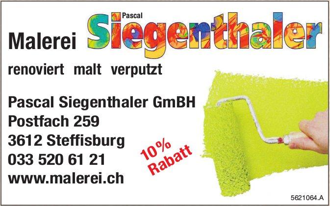 Malerei Pascal Siegenthaler GmBH - Renoviert, malt, verputzt