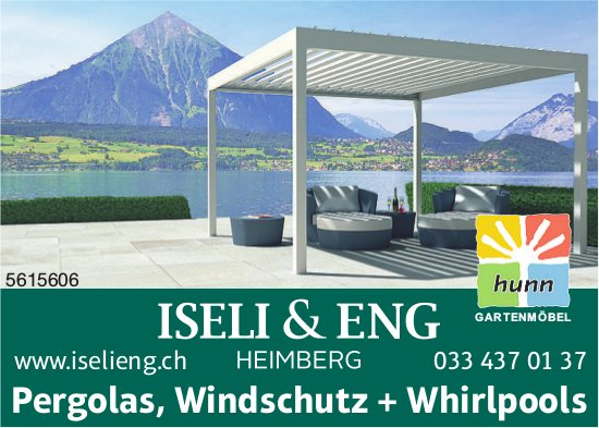 ISELI & ENG - Pergolas, Windschutz + Whirlpools