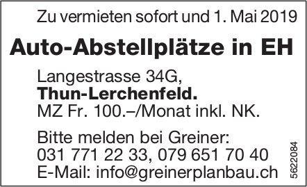 Auto-Abstellplätze in EH in Thun-Lerchenfeld zu vermieten