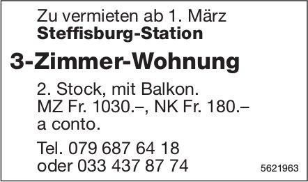 3-Zimmer-Wohnung in Steffisburg-Station zu vermieten
