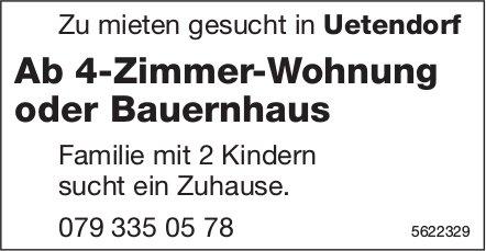 Ab 4-Zimmer-Wohnung oder Bauernhaus in Uetendorf zu mieten gesucht