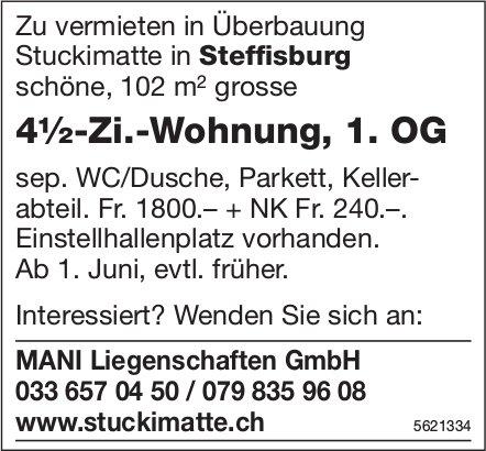 4½-Zi.-Wohnung, 1. OG in Uberbauung Stuckimatte in Steffisburg zu vermieten
