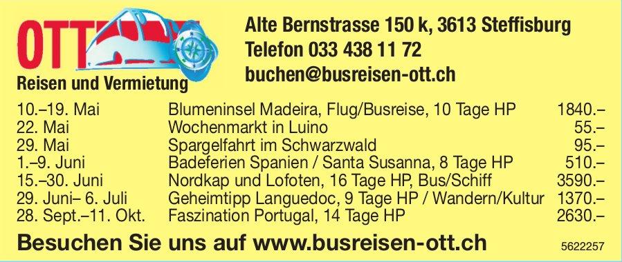 OTT Busreisen - Programm & Events