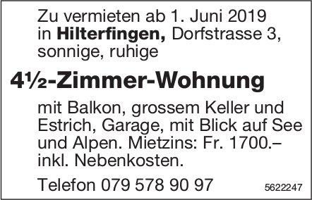 4½-Zimmer-Wohnung in Hilterfingen zu vermieten
