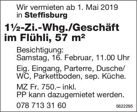 1½-Zi.-Whg./Geschäft im Flühli, 57 m², in Steffisburg zu vermieten