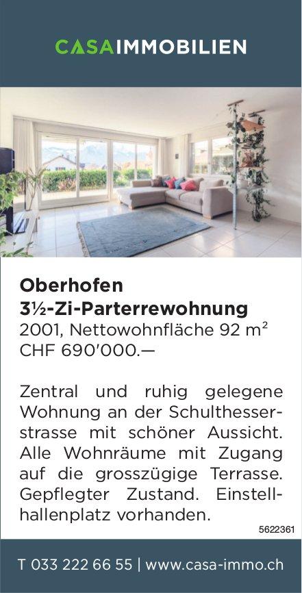 3½-Zi-Parterrewohnung in Oberhofen zu verkaufen