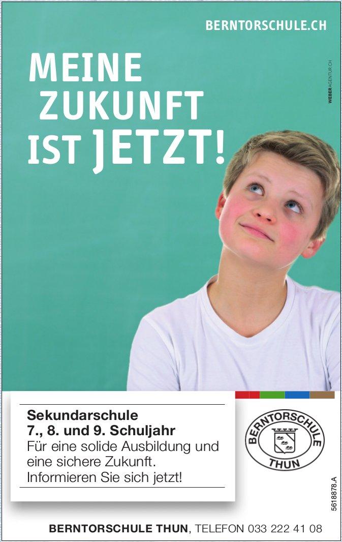 BERNTORSCHULE THUN - MEINE ZUKUNFT IST JETZT!