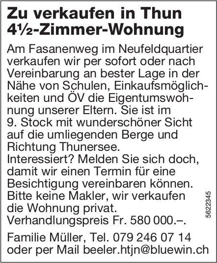 4½-Zimmer-Wohnung in Thun zu verkaufen