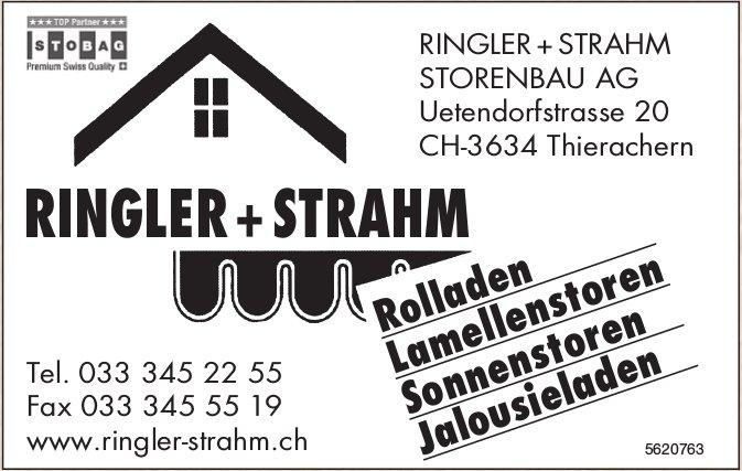 RINGLER + STRAHM STORENBAU AG - Rolladen, Lamellenstoren, Sonnenstoren usw.