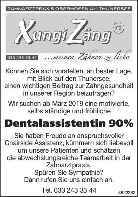 Dentalassistentin 90%, Zahnarztpraxis XungiZäng, Oberhofen am Thunersee, gesucht