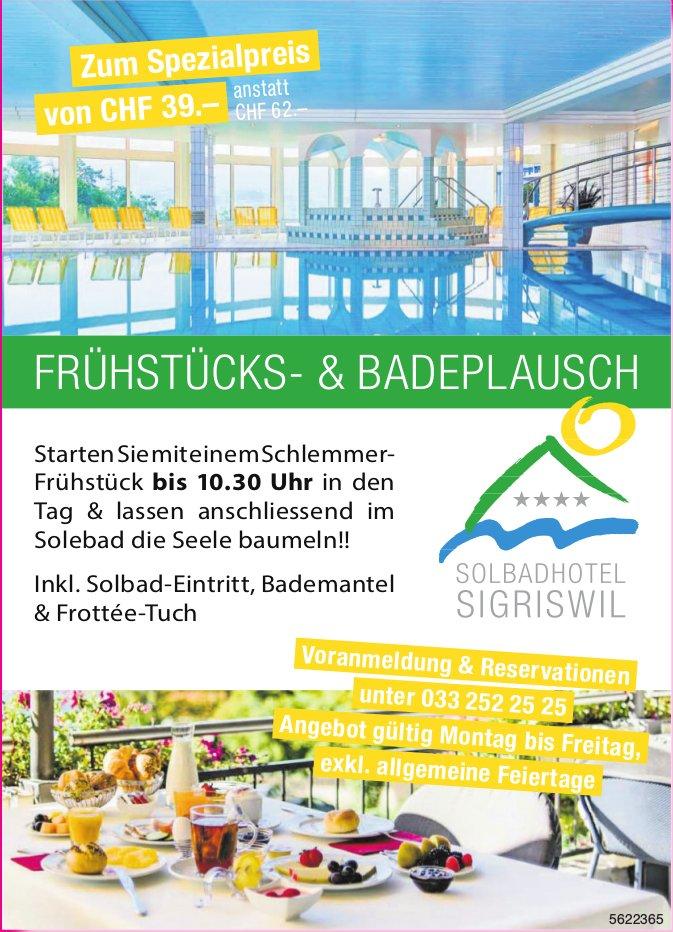 Solbadhotel Sigriswil - Frühstücks- & Badeplausch zum Spezialpreis von CHF 39.-