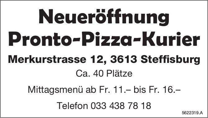 Neueröffnung Pronto-Pizza-Kurier in Steffisburg