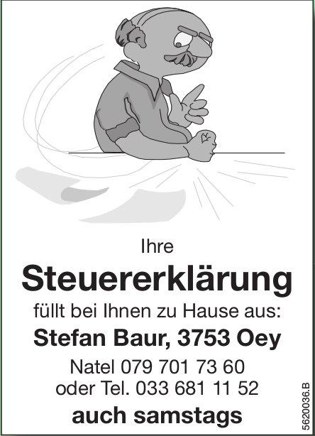 Ihre Steuererklärung füllt bei Ihnen zu Hause aus: Stefan Baur, Oey