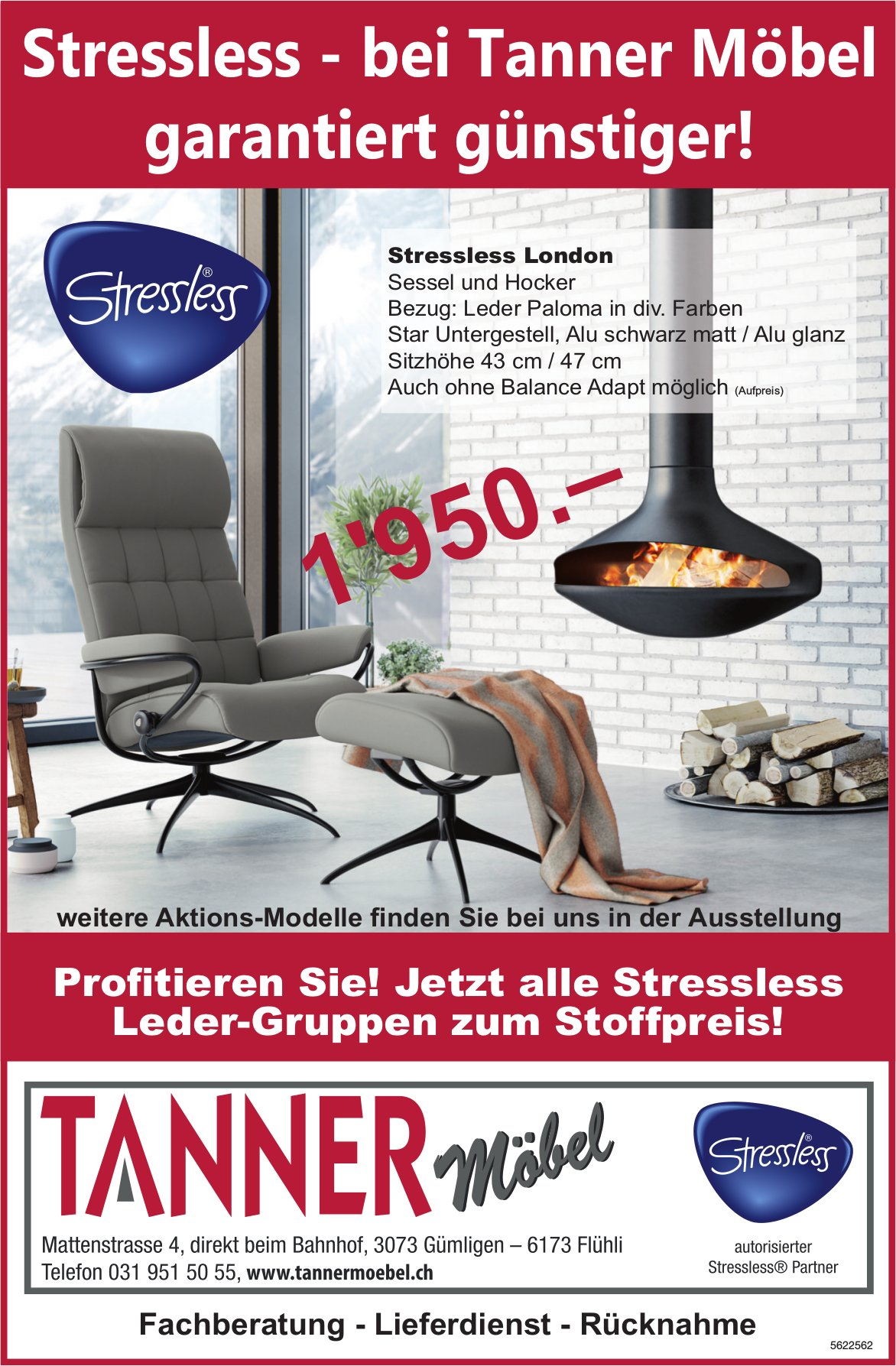 TANNER MÖBEL - Stressless - bei Tanner Möbel garantiert günstiger!