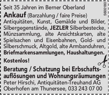 Peter Hirschi, Antiquitäten-Treuhand AG, Oberhofen
