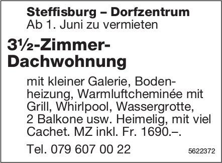 3½-Zimmer-Dachwohnung in Steffisburg-Dorfzentrum zu vermieten