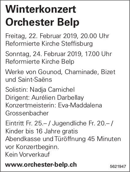 Winterkonzert Orchester Belp, 22 . + 24. Februar