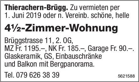 4½-Zimmer-Wohnung in Thierachern-Brügg zu vermieten