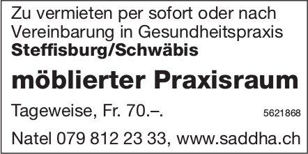 Möblierter Praxisraum in Gesundheitspraxis Steffisburg/Schwäbis zu vermieten