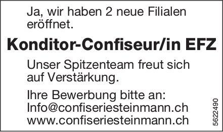 Konditor-Confiseur/in EFZ, Confiserie Steinmann, gesucht