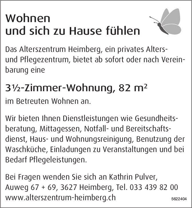 3½-Zimmer-Wohnung, 82 m2 im Alterszentrum Heimberg zu vermieten